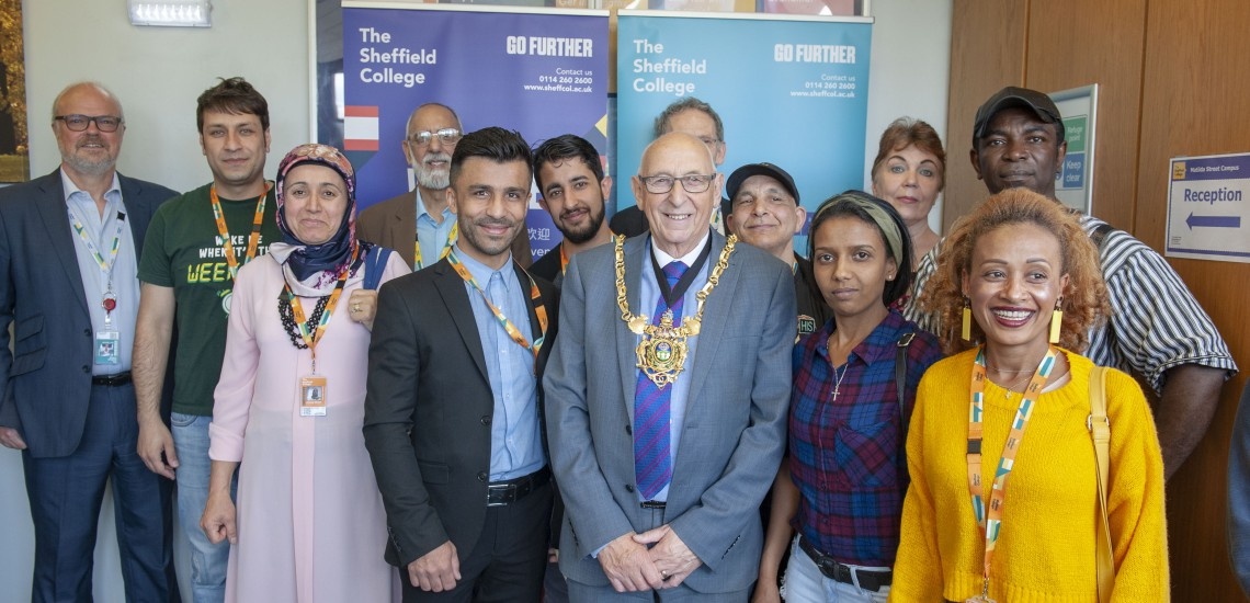 Sheffield's Lord Mayor celebrates ESOL student success