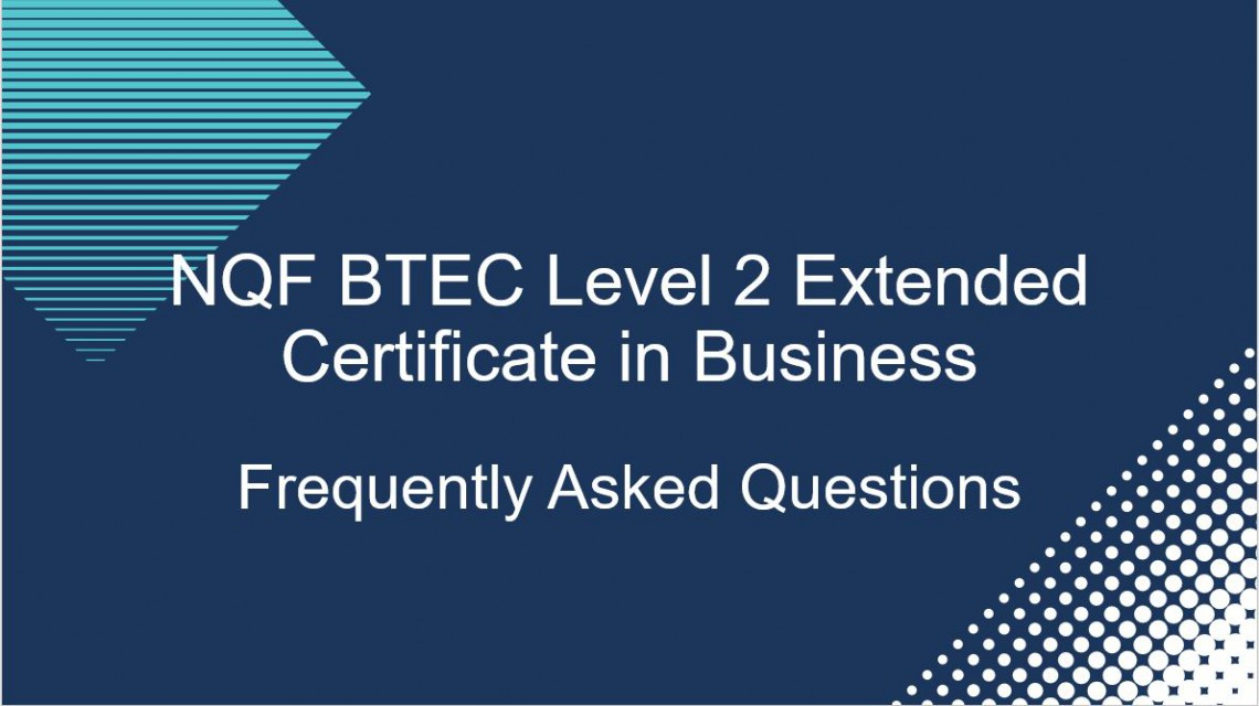 FAQ video for BTEC Level 2 Extended Certificate in Business
