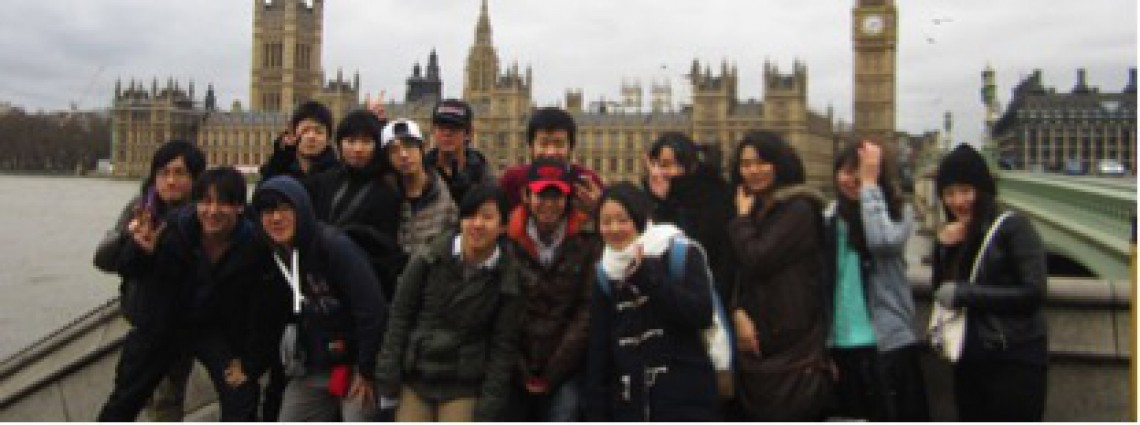 Students from Keiai High School in Japan on a study visit to London