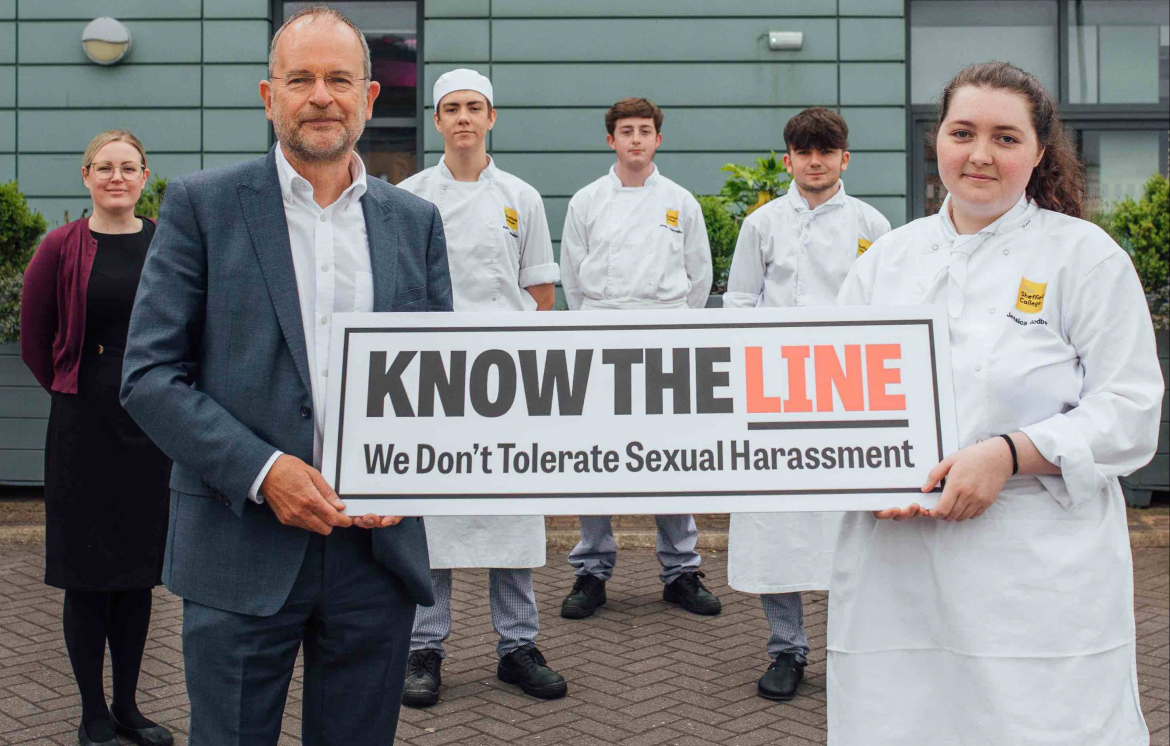 Silver Plate Restaurant backs Know The Line campaign