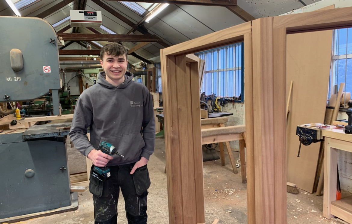 Joinery apprentice Tim enjoys building the skills for his future career
