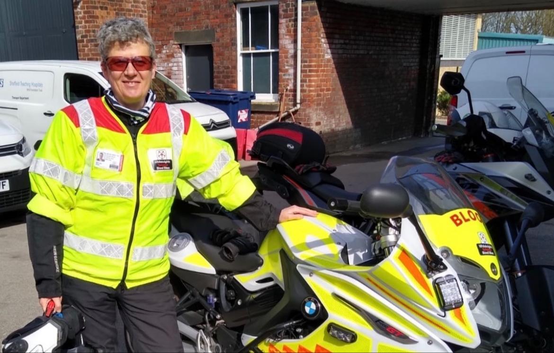 Yorkshire's only female 'blood biker' volunteer doing vital work on the frontline